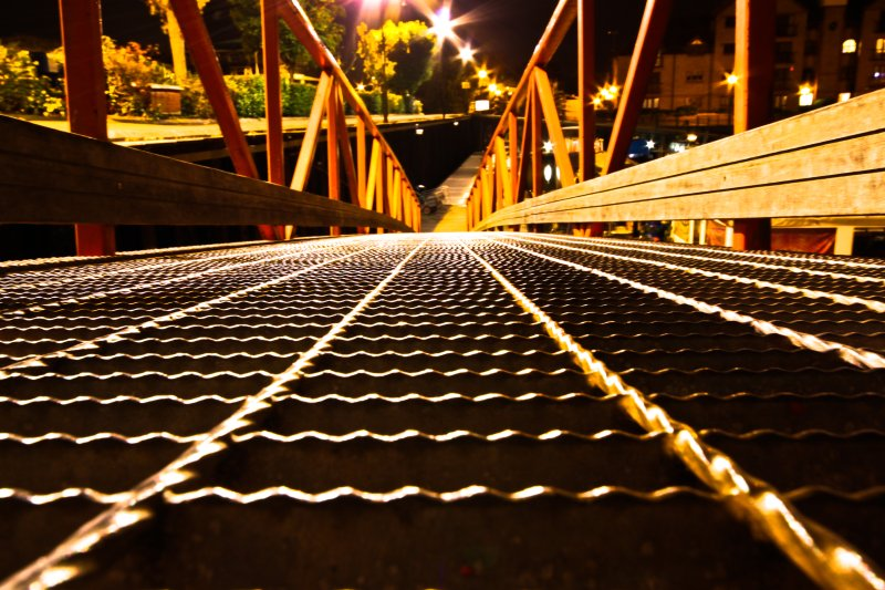 Bristol Bridge Night Lines