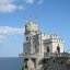 "The romantic ""Swallow's Nest"" castle on the Aurora cliffs of cape Ai-Todor (2005-09-228)"
