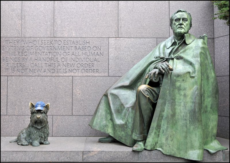 The Peace Hat, FDR (WWll) and Fala, Too!