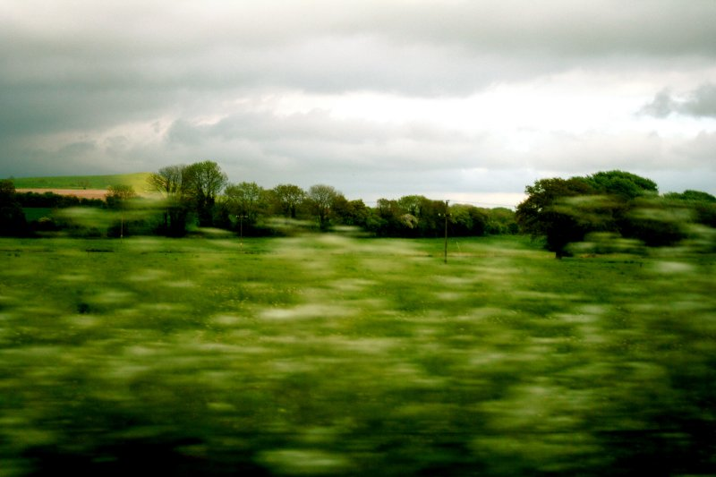 movin along the countryside
