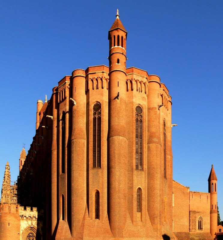 The Cathedral Of Saint Cecile, Albi, Tarn, France - Builded from 1282 to 1480 - The world's largest construction in brick.  Classified in 2010 by UNESCO, as world heritage.