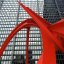 "Chicago - Alexander Calder's Sculpture ""Flamingo"""