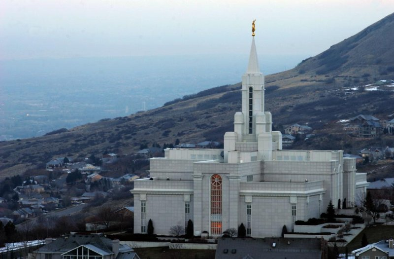 LDS Temple in December