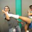 E3 2011 - Chun-Li from Street Fighter poses with fans at the Capcom booth