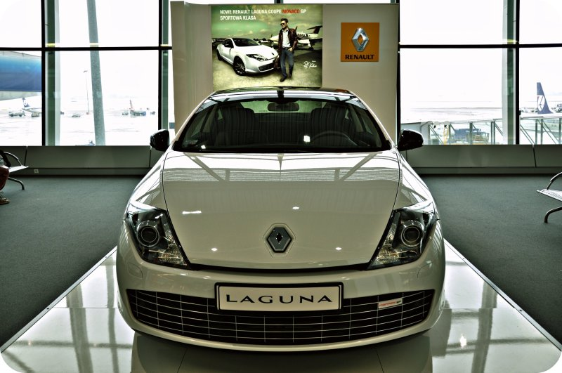 [ French Form Of Beautiful Transportation = 5 = ] The New Renault Laguna Monaco GP Coupe @ Frederic Chopin Int. Airport = Terminal 2 Showcase = Warsaw, Poland