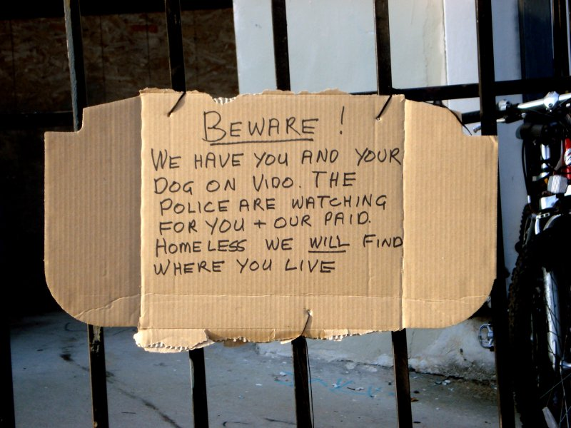 ...our paid homeless..