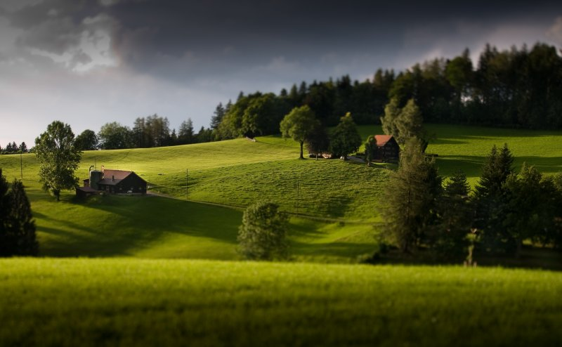 minutes after a rainfall in Teufen, Appenzell