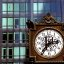 """Chicago - 1st National Bank Clock """"Office Hours"""""""