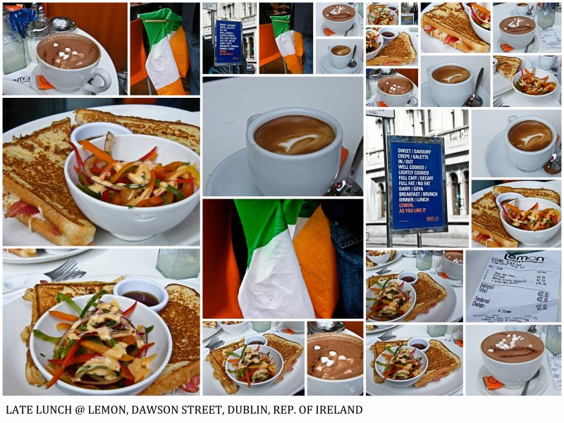 After The St. Patrick's Parade : Late Lunch @ Lemon, Dawson Street, Dublin, Rep. Of Ireland : A Fine Tradition!