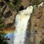 Rainbow at Tower Falls, Yellowstone - bummer but the trail to the base was closed