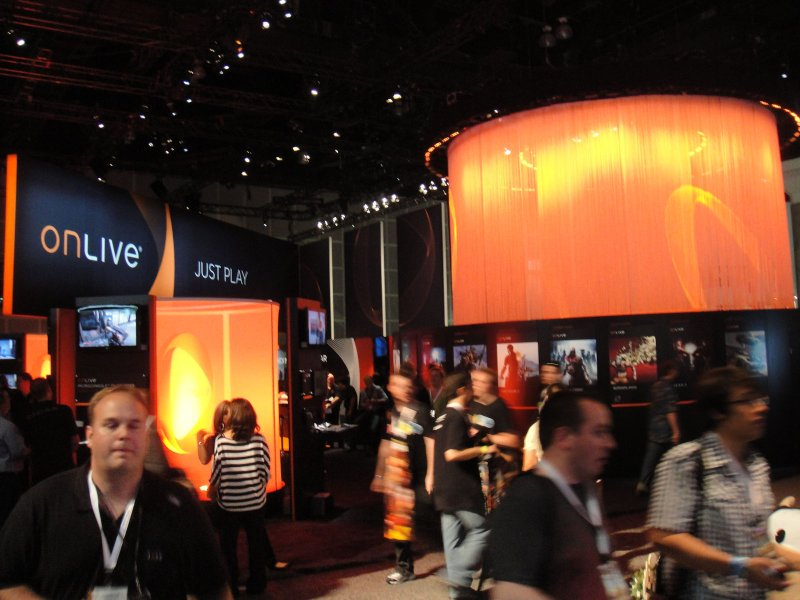 E3 2010 ONLIVE booth