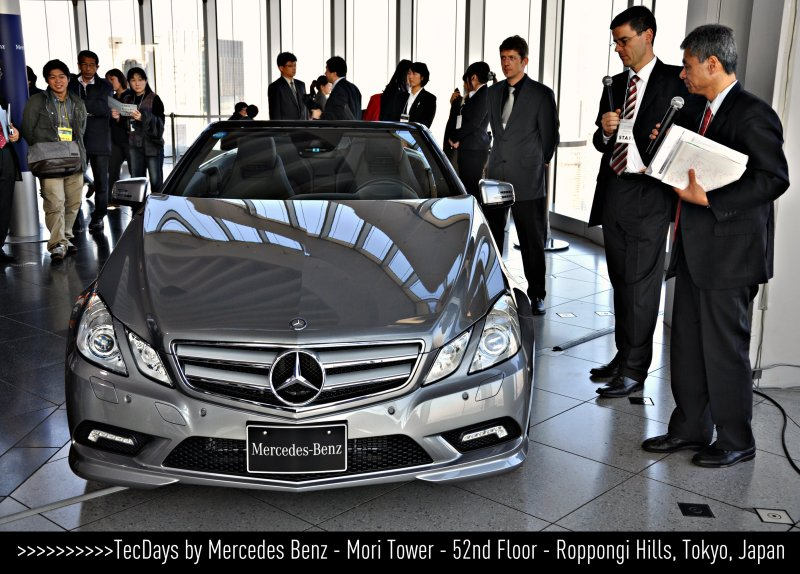 [ E - Class Cabriolet ] TecDays by Mercedes Benz - 52nd Floor - Mori Tower - Roppongi Hills - in Tokyo, Japan