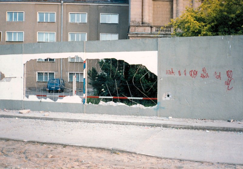 West Berlin 1990 - Inner Wall Behind The Reichstag.