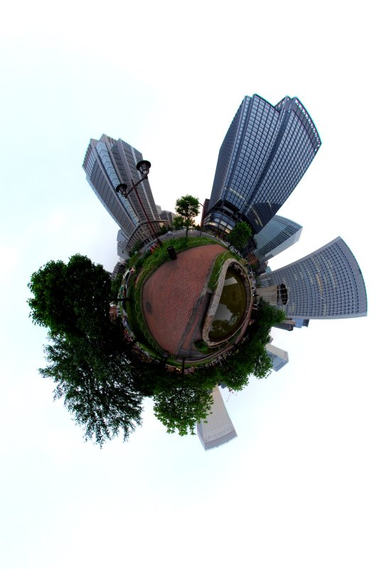 New buildings on the planet