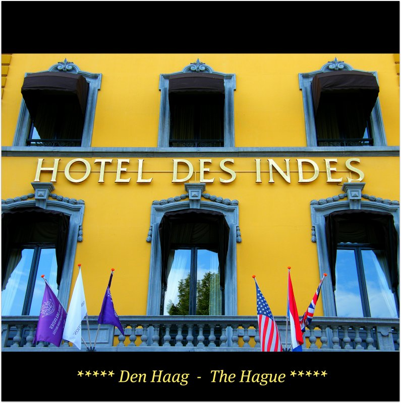 The legendary Hotel Des Indes, A Luxury Collection Hotel The Hague, The Netherlands - Hospitality = ICON! Enjoy the heart of the city! :)