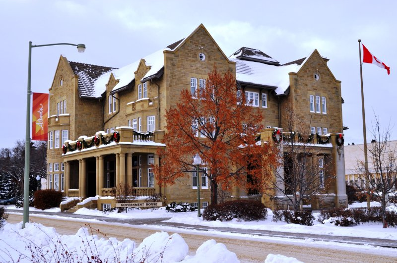 Alberta Government House in the Winter
