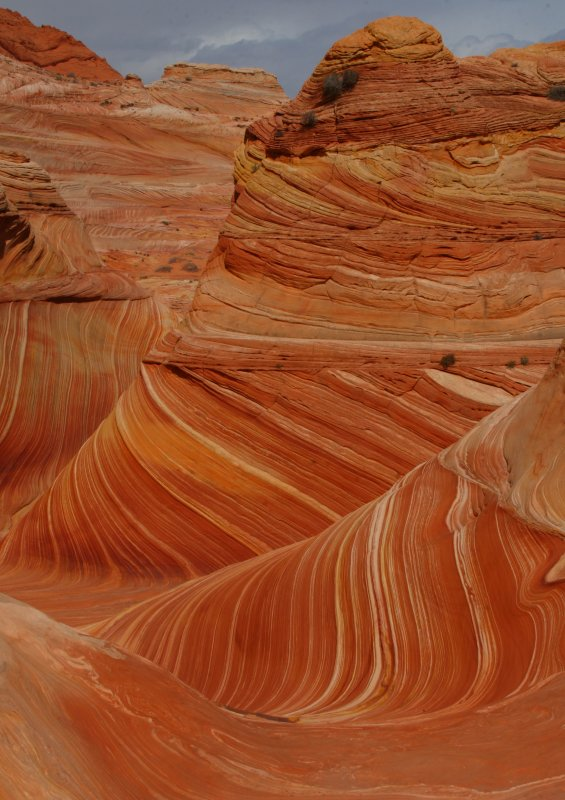 Unreal rock formations at The Wave