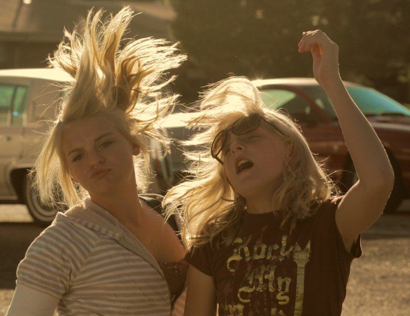Funny Dancing Girls with Hair Flying