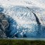 Close-up of the snout of Portage Glacier, south of Anchorage, Alaska