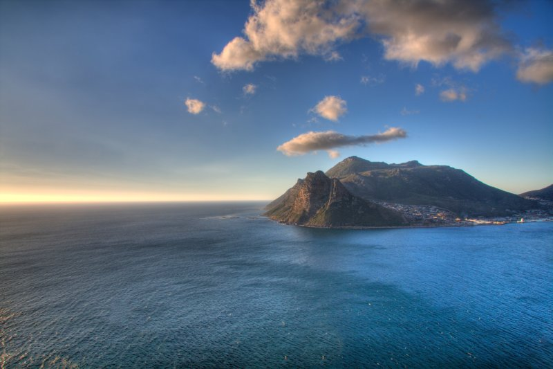 View from Chapmans Peak of Hout Bay harbour