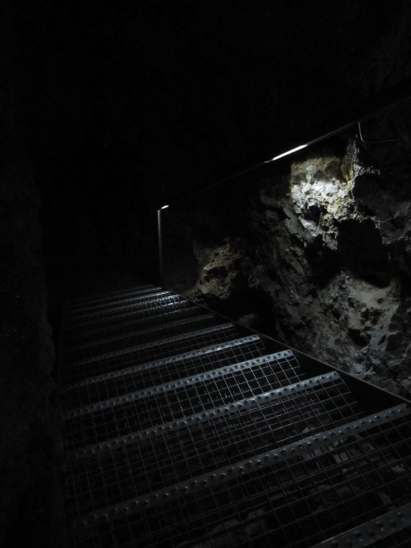 Stairs in the darkness
