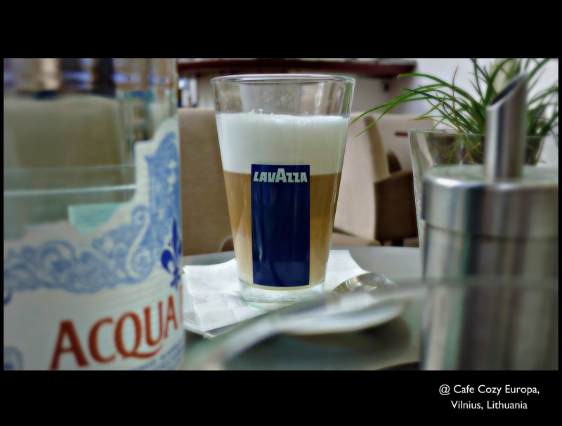 [ A little time for some simple pleasures : Love to think about the beauty surrounding us ] Cafe Cozy Europa @ The Europa Center, Vilnius, Lithuania