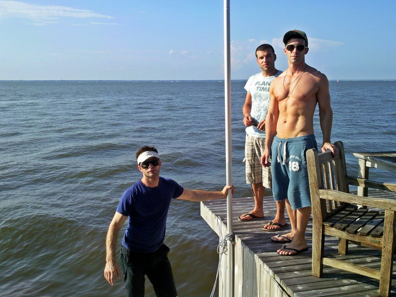 Fire Island Michael Nonie and Ernesto catching fish