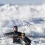 Father and son surf lesson in Morro Bay, CA 6 of 12