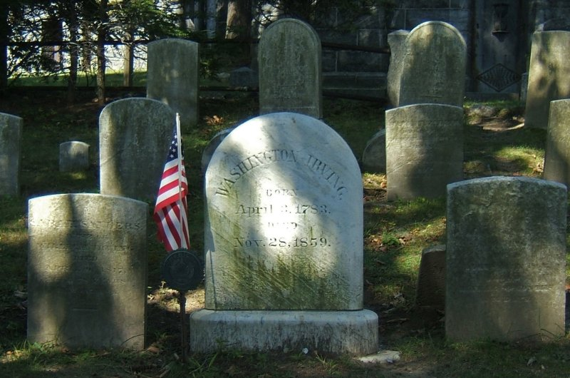 Washington Irving Rests in Sleepy Hollow
